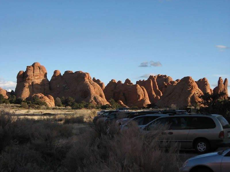 Looking Towards Devils Garden Campground, Arches National Park, Utah