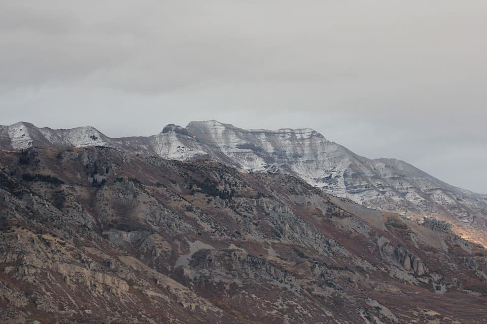 Mount Timpanogos with snow